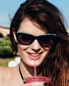 IsabeliResort1 Isabeli Fontana Models Resort Swimwear for Bergdorf Goodman