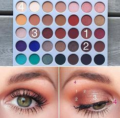 /// Jaclyn Hill Palette Looks Eye Makeup Steps, Makeup Eye Looks, Makeup For Green Eyes, Pretty Makeup, Awesome Makeup, Blue Makeup, Glitter Makeup, Jaclyn Hill Eyeshadow Palette, Jaclyn Hill Palette
