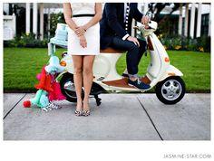 Jasmin Star - Wedding getaway scooter
