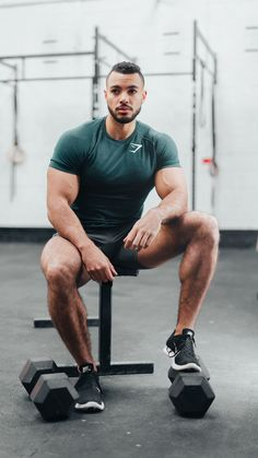Justin St Paul mid workout whilst donning the new Performance Seamless T-Shirt, coming Thursday 14th December at 3pm GMT in Forest Green.