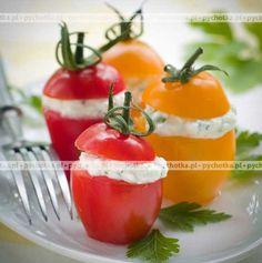 Pomidory z serowym farszem