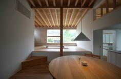 Yaochi-chō House by Hitoshi Sugishita Architect and Associates Japanese Architecture, Architecture Design, Modern Japanese Interior, Japanese House, Minimalist Interior, Beautiful Homes, Takachiho, Relax, House Design