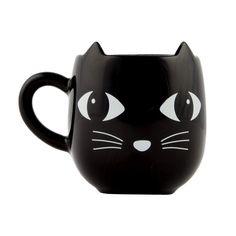 Mug Chat noir - Sass and belle by RJB Stone Face Mug, Cat Face, Mug Chat, Gothic Kitchen, Flamingo Gifts, Sass & Belle, Cat Coffee Mug, Kawaii, Stoneware Mugs