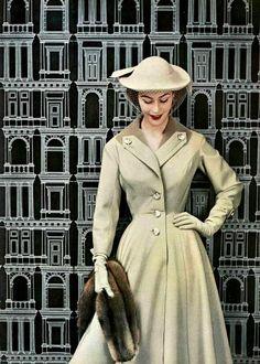 Jacques Fath, 1953. #vintage #1950s #fashion #hats