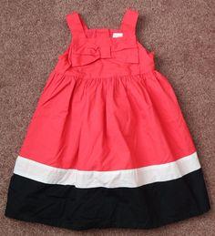 Gymboree 3 3T BONJOUR BRIGHT Dress Bloomers Toddler Girls Cotton Colorblock Pink…