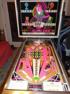 "1974 Dealers Choice ""Williams "" Pinball Machine"