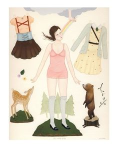 wool and water paperdoll.