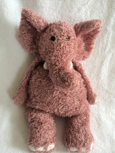 "Jellycat Elephant Junglie Pink Purple Plush Stuffed Animal RARE Toy 15"" | eBay"