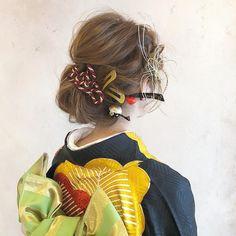 【2019年版】成人式・卒業式に♡着物に合わせる可愛い髪型の決定版!ショート~ロングまで一押しヘアスタイル20選 | myreco(マイリコ) Medium Hair Styles, Short Hair Styles, Hair Arrange, Japanese Kimono, Japan Fashion, Japanese Culture, Up Styles, Cute Hairstyles, My Images