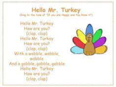 Hello Mr. Turkey- Thanksgiving and Turkey song