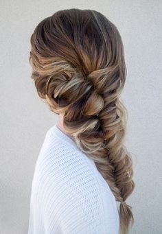 Fishtail Braids Hairstyles 10 / http://www.meetthebestyou.com/fishtail-braids-you-should-not-miss/