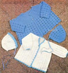 PDF Crochet Pattern for Baby  2 Coats and 2 by KenyonDownloadBooks
