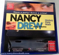 Jenn's Nancy Drew Collection - Nancy Drew Girl Detective Collectibles - Specialty Board Games Party Game - www.nancydrewsleuth.com