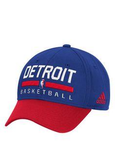 fd567d56eb2 Adidas Detroit Pistons Mens Blue 2016 Practice Adjustable Hat Detroit  Pistons