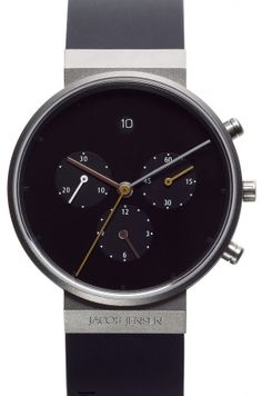 Watch 600 Titanium Chrono Sapphire Jacob Jensen Tommy Hilfiger, Black Rubber Bands, Color Negra, Antique Rings, Chronograph, Calvin Klein, Sapphire, Rings For Men, Smart Watch