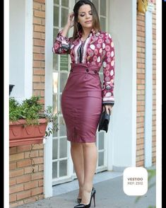 Image may contain: 1 person, standing and shoes Pencil Skirt Outfits, Dress Outfits, Fashion Outfits, Curvy Outfits, Classy Outfits, Classic Black Dress, Latest African Fashion Dresses, Fashion Moda, Dress To Impress