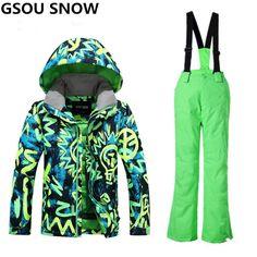 Gsou Snow Winter Ski Suit For Boys Kids Waterproof Warm Snowboarding Suits Ski  Jacket Snowboard Sets Outdoor Skiing Snow Wear 5dabfad1d