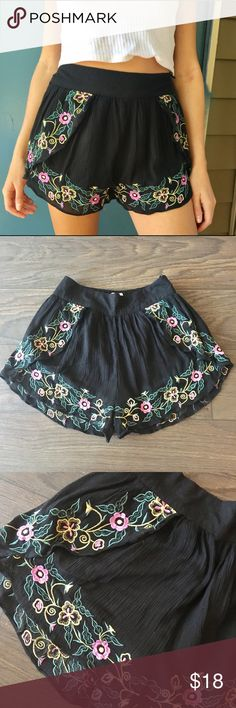 Urban Outfitters Floral Print Shorts Comfy and cute shorts from Urban Outfitters for summer time! Fits great and only been worn once. The floral print is on back and front of shorts.🌞 Urban Outfitters Shorts
