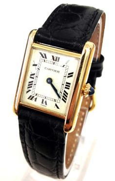 bd610c8d827 Ladies  Vintage Cartier Tank Francaise Solid 18K Gold Manual Wind Watch
