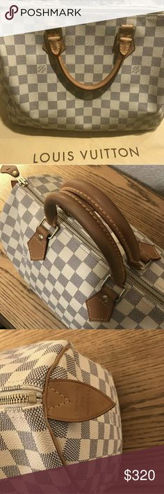Louis Vuitton Speedy 30 Damien Azur bag is in great condition also is 100% authentic I'm selling because of low funds if u want to buy text me at 409-291-1422 I'm willing to take offers Louis Vuitton Bags Shoulder Bags