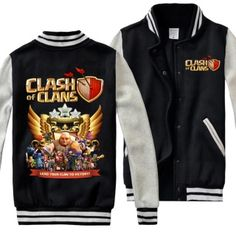 COC Clash of Clans sweatshirt for men plus size baseball jacket