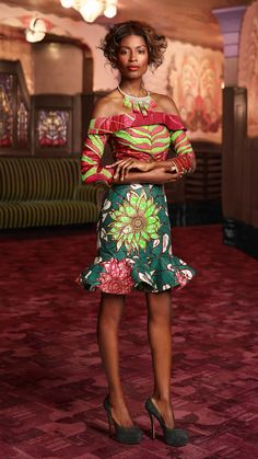 Vlisco |'Feel' 2015 | OFF-SHOULDER STYLE