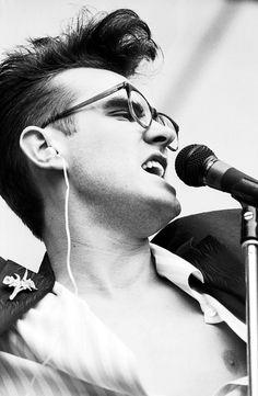 Morrissey: The Smiths at GLC 'Jobs For A Change' Festival, Jubilee Gardens, London on June 10, 1984.