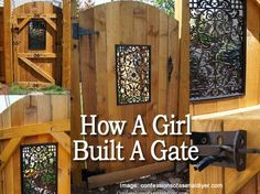 How Christy Built A Beautiful Gate - Christy and her husband at confessionsofaser. finished building a fence and ran out of time getting the gate installed. Related: More garden Gate Ideas Ch
