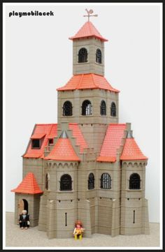 custom church Toy Castle, Playmobil Toys, Toy Display, Dollhouse Accessories, Lego Friends, Dollhouse Miniatures, Childhood Memories, Dolls, Mansions