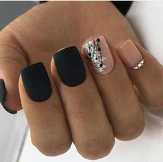 and Hottest Matte Nail Art Designs Ideas 2019 – Nails Summer – Fall – Spring – Winter Gorgeous Nails, Love Nails, Pretty Nails, My Nails, Square Acrylic Nails, Square Nails, Spring Nail Art, Spring Nails, Matte Nail Art