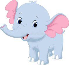 Cute Baby Elephant Cute Elephant Cartoon, Zebra Cartoon, Funny Elephant, Cute Baby Elephant, Baby Zebra, Little Elephant, Baby Cartoon, Cute Cartoon, Elephant Template