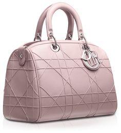 #DIOR GRANVILLE - Small foulard -coloured Leather'Dior Granville' polochon bag