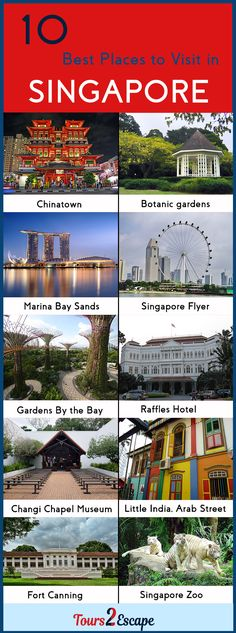 10 Best Places to Visit in Singapore #Singapore http://www.tours2escape.com/10-best-places-to-visit-in-singapore/