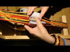 Card Weaving - Interlaced Pattern - YouTube