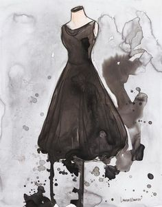 Black Junewatercolor and ink on Yupo - Lauren Maurer