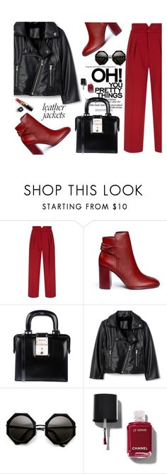 """""""red for L"""" by nataskaz ❤ liked on Polyvore featuring RED Valentino, Mercedes Castillo, Dsquared2 and Chanel"""