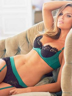 Teal and navy blue lingerie. Bra, panties and garter straps. Lingerie - Sexy Women in Sexy Summer Swimsuits, Corsets, Swimwear & Lingerie
