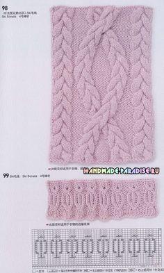 115 схем и модных узоров вязания спицами - Handmade-Paradise