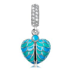 """Amazon.com: NinaQueen""""SurprisingLove"""" EnamelHeartDangleCharmsEngravedwith""""Iloveyou"""", IdealGiftsforher, gifts for mom, heart jewelry: Clothing"""
