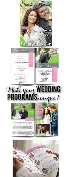Make Your Wedding Programs Unique Try A Magazine Style Program That Is Fully Customizable