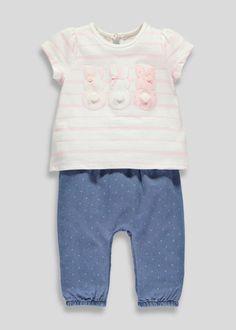 Girls Striped T-Shirt (Tiny Baby-18mths)