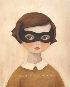 "Art Inspiration: Adorable Illustration - ""Kitten Bandit"" by Emily Winfield Martin. Art And Illustration, Frankie Magazine, Foto Poster, Mysterious Girl, Arrow Print, Black Apple, Grafik Design, Art Design, Oeuvre D'art"