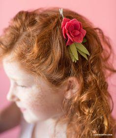 DIY: rose hair clip