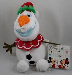 "New Disney Store Frozen Holiday ELF Olaf Mini Bean Bag Plush Toy Doll 7"" Snowman #DisneyStore"