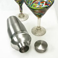 Cocktail Shaker, $25, Made with recycled stainless steel in an environmentally-friendly production process, these shakers feature classic styling and cool good looks.