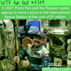 Pizza Hut sent pizza to the International space station for a million dollar$ - WTF fun facts