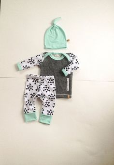 Baby boy coming home outfit! Boys take home outfit, pants shirt and matching top knot hat. Size Newborn **Made to Order** (LondinLuxBrand) Coming Home Outfit Boy, Take Home Outfit, Baby Outfits Newborn, Baby Boy Outfits, Baby Boys, Little Babies, Cute Babies, Cute Baby Pictures, Baby Boy Fashion