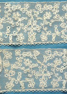 76 Ins Antique Vintage Flemish Handmade Linen Bobbin Lace from France | eBay
