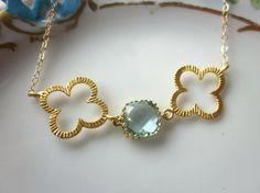 Quatrefoil & Aquamarine Jewelry
