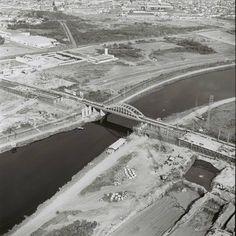Construção da Ponte do Morumbi, em 1969